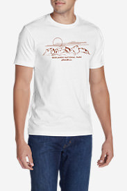 Men's Graphic T-Shirt - Badlands National Park in White