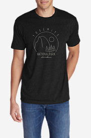Men's Graphic T-Shirt - Yosemite National Park in Black