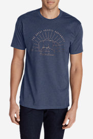 Men's Graphic T-Shirt - Great Pacific Northwest Bear in Blue