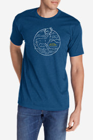 Men's Graphic T-Shirt - White Tail in Blue