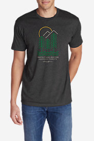 Men's Graphic T-Shirt - American Forests in Gray