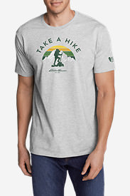 Men's Graphic T-Shirt - Take A Hike in Gray