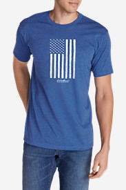 Men's Graphic T-Shirt - Goose Flag in Blue