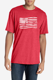 Men's Graphic T-Shirt - Classic Flag Stamp in Red