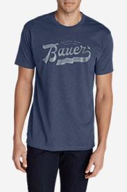 Men's Graphic T-Shirt - Ribbon Script in Blue