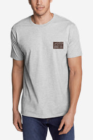 Men's Graphic T-Shirt - Adventure Pack in Gray