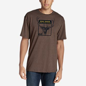 Men's Graphic T-Shirt - Antler in Brown