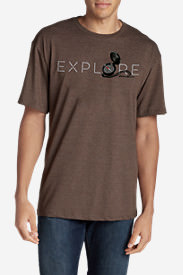 Men's Graphic T-Shirt - Explore in Brown