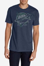 Men's Graphic T-Shirt - Salmon Reel in Blue