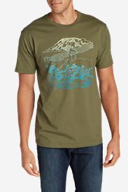 Men's Graphic T-Shirt - Mount Rainier in Green