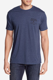Men's Graphic T-Shirt - Classic Pacific Northwest in Blue