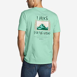 Men's Graphic T-Shirt - For the Views in Green