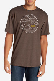 Men's Graphic T-Shirt - White Tail in Brown