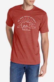 Men's Graphic T-Shirt - Bear PNW in Orange