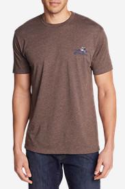 Men's Graphic T-Shirt - Shuksan Canoes in Brown