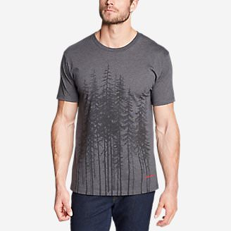 Men's Graphic T-Shirt - Tall Trees in Gray