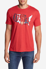 Men's Graphic T-Shirt - USA Boards in Red