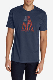 Men's Graphic T-Shirt - Tree Flag in Blue