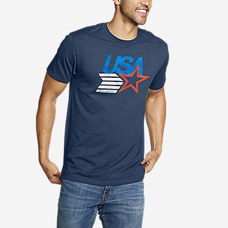 Men's Graphic T-Shirt - USA Star in Blue