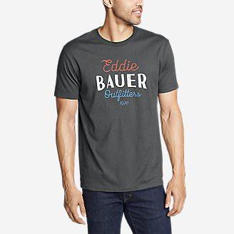 Men's Graphic T-Shirt - Americana Script in Gray