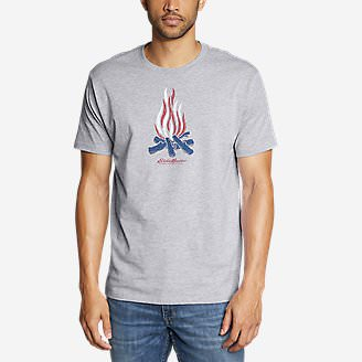 Men's Graphic T-Shirt - Patriot Flame in Gray