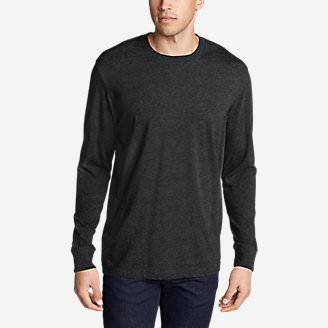 Men's Legend Wash Long-Sleeve T-Shirt - Classic Fit in Black