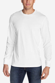 Men's Legend Wash Long-Sleeve T-Shirt - Classic Fit in White
