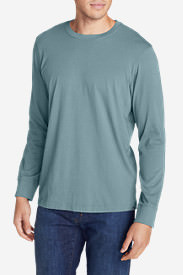 Men's Legend Wash Long-Sleeve T-Shirt - Classic Fit in Blue