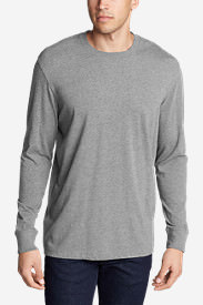 Men's Legend Wash Long-Sleeve T-Shirt - Classic Fit in Gray