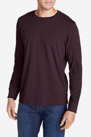 Men's Legend Wash Long-Sleeve T-Shirt - Classic Fit in Red