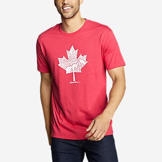 Men's Graphic T-Shirt - Canada Leafscape in Red