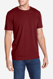 Men's Legend Wash Short-Sleeve Pocket T-Shirt - Classic Fit in Red