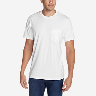 Men's Legend Wash Short-Sleeve Pocket T-Shirt - Classic Fit in White