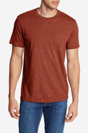 Men's Legend Wash Short-Sleeve Pocket T-Shirt - Classic Fit in Brown