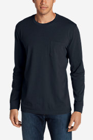 Men's Legend Wash Long-Sleeve Pocket T-Shirt - Classic Fit in Blue