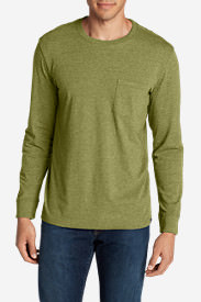 Men's Legend Wash Long-Sleeve Pocket T-Shirt - Classic Fit in Green