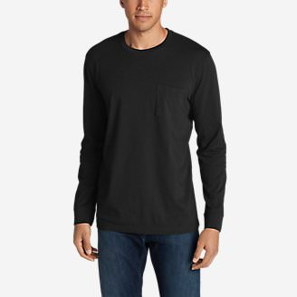 Men's Legend Wash Long-Sleeve Pocket T-Shirt - Classic Fit in Black