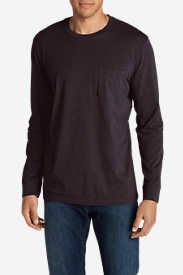 Men's Legend Wash Long-Sleeve Pocket T-Shirt - Classic Fit in Purple