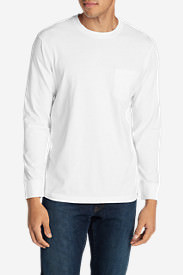 Men's Legend Wash Long-Sleeve Pocket T-Shirt - Classic Fit in White