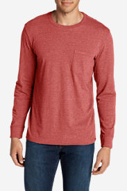 Men's Legend Wash Long-Sleeve Pocket T-Shirt - Classic Fit in Brown