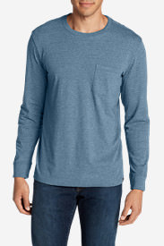 Men's Legend Wash Long-Sleeve Pocket T-Shirt - Classic Fit in Blue