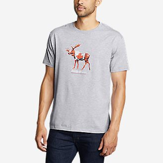 Men's Graphic T-Shirt - Canada Moose in Gray