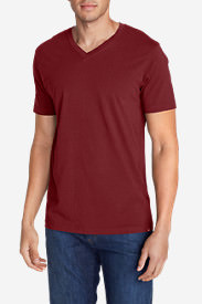 Men's Legend Wash Short-Sleeve V-Neck T-Shirt - Classic Fit in Red