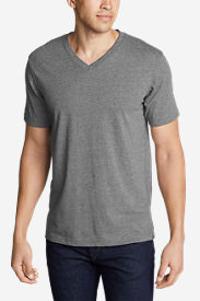 Men's Legend Wash Short-Sleeve V-Neck T-Shirt - Classic Fit in Gray