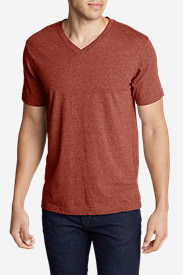 Men's Legend Wash Short-Sleeve V-Neck T-Shirt - Classic Fit in Brown