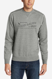 Men's Camp Fleece Crewneck Sweatshirt - Graphic in Gray