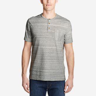 Men's Legend Wash Pro Short-Sleeve Henley - Space Dye in Gray