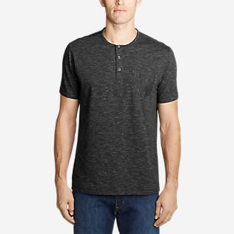 Men's Legend Wash Pro Short-Sleeve Henley - Space Dye in Gray