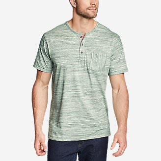 Men's Legend Wash Pro Short-Sleeve Henley - Space Dye in Green