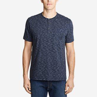 Men's Legend Wash Pro Short-Sleeve Henley - Space Dye in Blue